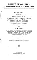 HEARINGS BEFORE THE SUBCOMMITTEE OF THE COMMITEE ON APPROPRIATIONS UNITED STATES SENATE