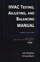 HVAC Testing, Adjusting, and Balancing Field Manual