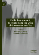 Pdf Public Procurement, Corruption and the Crisis of Governance in Africa Telecharger
