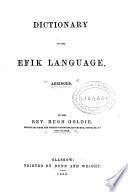 Dictionary Of The Ef K Language Abridged