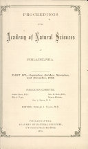 PROCEEDINGS OF THE Academy of Natural Sciences of PHILADELPHIA. Book