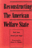 Reconstructing the American Welfare State Book PDF
