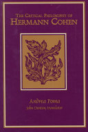 The Critical Philosophy of Hermann Cohen