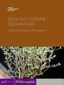 Pdf Essai sur l'origine des langues