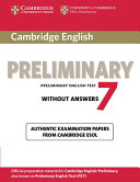 Cambridge English Preliminary 7 Student's Book Without Answers