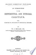 An introduction to the differential and integral calculus