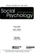 Study Guide for Use with Social Psychology  Second Canadian Edition