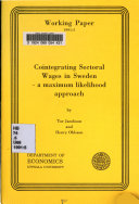 Cointegrating Sectoral Wages in Sweden