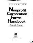 Nonprofit Corporation Forms Handbook