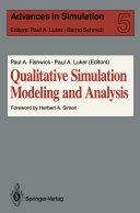 Qualitative Simulation Modeling and Analysis