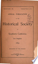 Publications of the Historical Society of Southern California