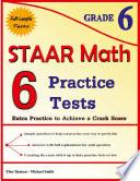 6 STAAR Math Practice Tests Grade 6