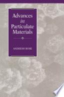 Advances In Particulate Materials Book PDF