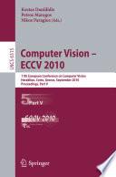 Computer Vision    ECCV 2010 Book