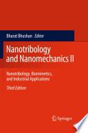 Nanotribology and Nanomechanics II
