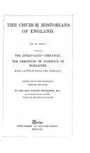 The Anglo Saxon Chronicle