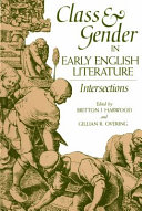 Pdf Class and Gender in Early English Literature