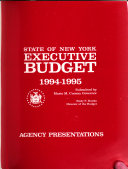 State of New York Executive Budget  Agency Presentations