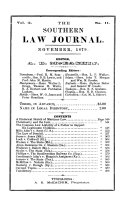 The Southern Law Journal