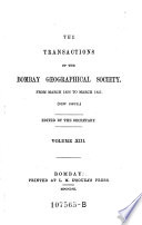The Transactions of the Bombay Geographical Society ; From March 1856 to March 1857 (New Issue) ... Volume XIII