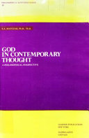 God in Contemporary Thought