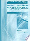 Basic Technical Mathematics with Calculus, SI Version