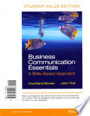 Business Communication Essentials, Student Value Edition Plus 2014 MyBCommLab with Pearson EText -- Access Card