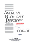 American Book Trade Directory  1995 96