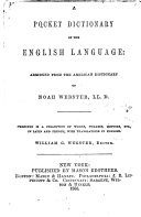 A Pocket Dictionary of the English Language