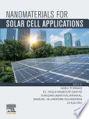Nanomaterials for Solar Cell Applications Book
