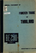 Annual Statement of the Foreign Trade and Navigation of the Kingdom of Thailand