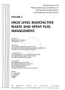 Low and Intermediate Level Radioactive Waste Management  High level radioactive waste and spent fuel management Book
