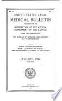 United States Naval Medical Bulletin Book PDF