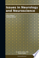 Issues In Neurology And Neuroscience 2012 Edition Book PDF