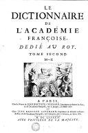 Le Dictionnaire de l'Académie Françoise, dedié au Roy