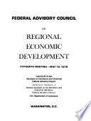 Meeting - Federal Advisory Council on Regional Economic Development