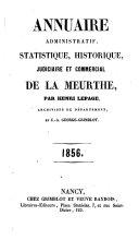 Annuaire administratif, statistique, historique, judiciaire et commercial de Meurthe-et-Moselle