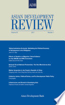 Asian Development Review Volume 28 Number 1