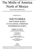The Moths of America North of Mexico  Including Greenland Book