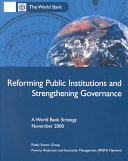 Reforming Public Institutions and Strengthening Governance