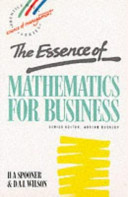Cover of The Essence of Mathematics for Business