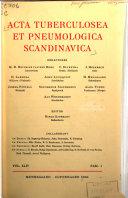 Acta tuberculosea et pneumologica Scandinavica