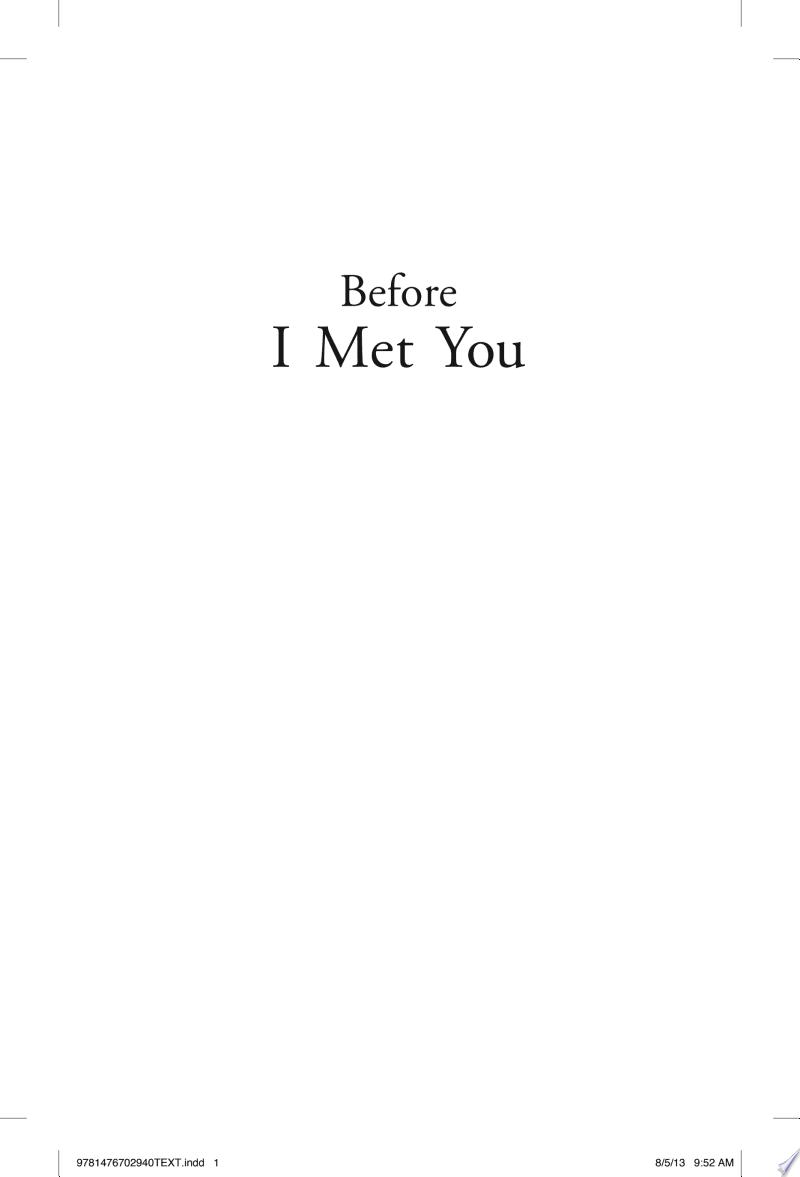 Before I Met You banner backdrop