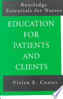 Education for Patients and Clients Book