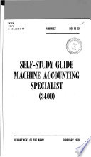 Self study Guide  Machine Accounting Specialist  3400