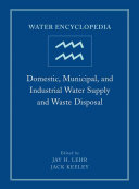 Water Encyclopedia Domestic Municipal And Industrial Water Supply And Waste Disposal Book PDF