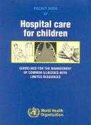 Pdf Pocket Book of Hospital Care for Children