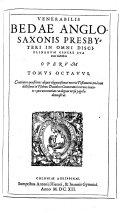 Pdf Venerabilis Bedae presbyteri Anglo-Saxonis viri sua aetate doctissimi, opera quotquot reperiri potuerunt omnia