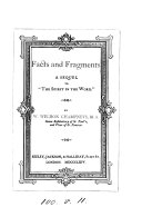 Facts and fragments, a sequel to 'The spirit in the word'.