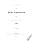A Report of the Record Commissioners